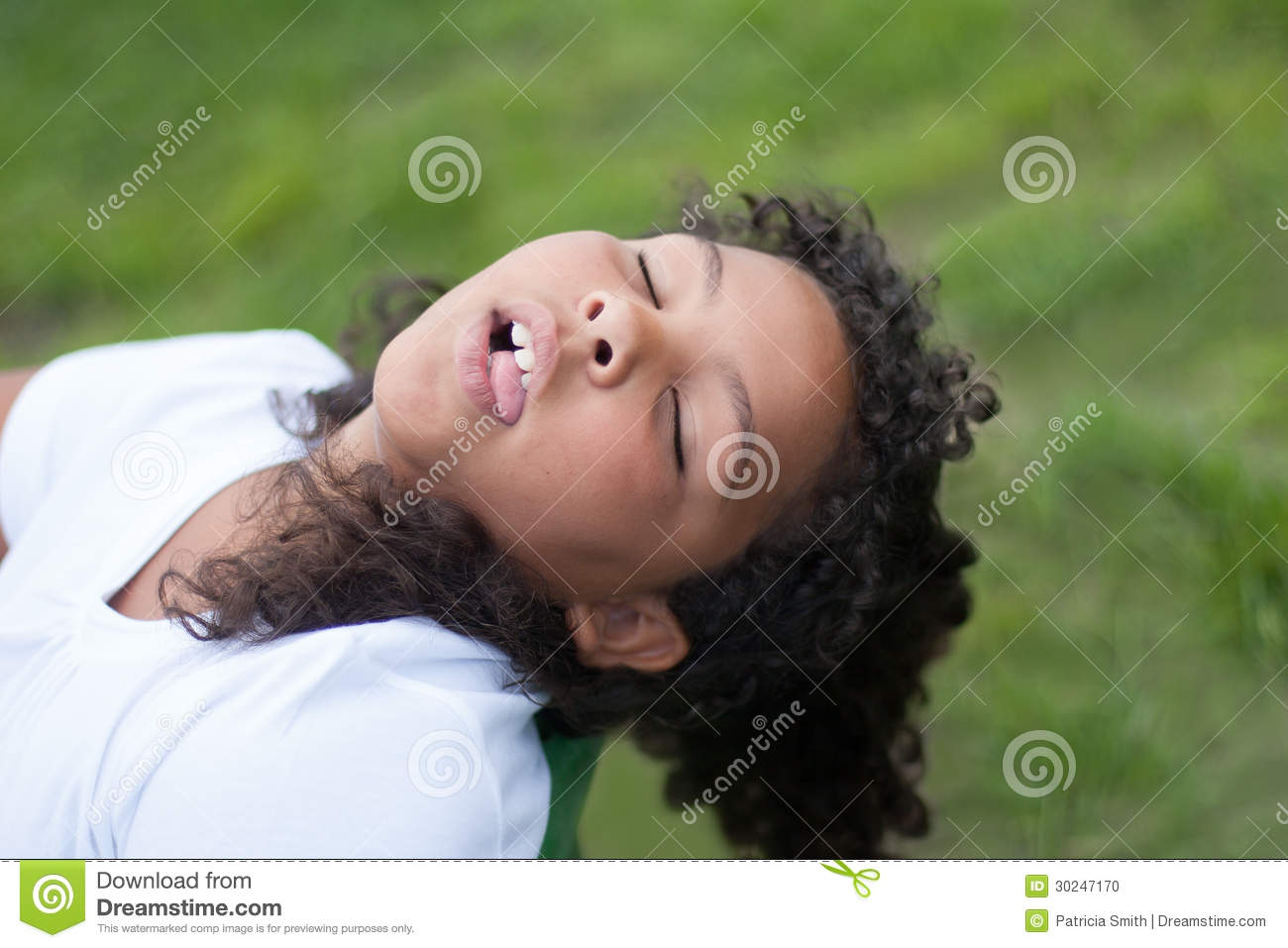 Child Playing Dead Stock Photo Image 30247170