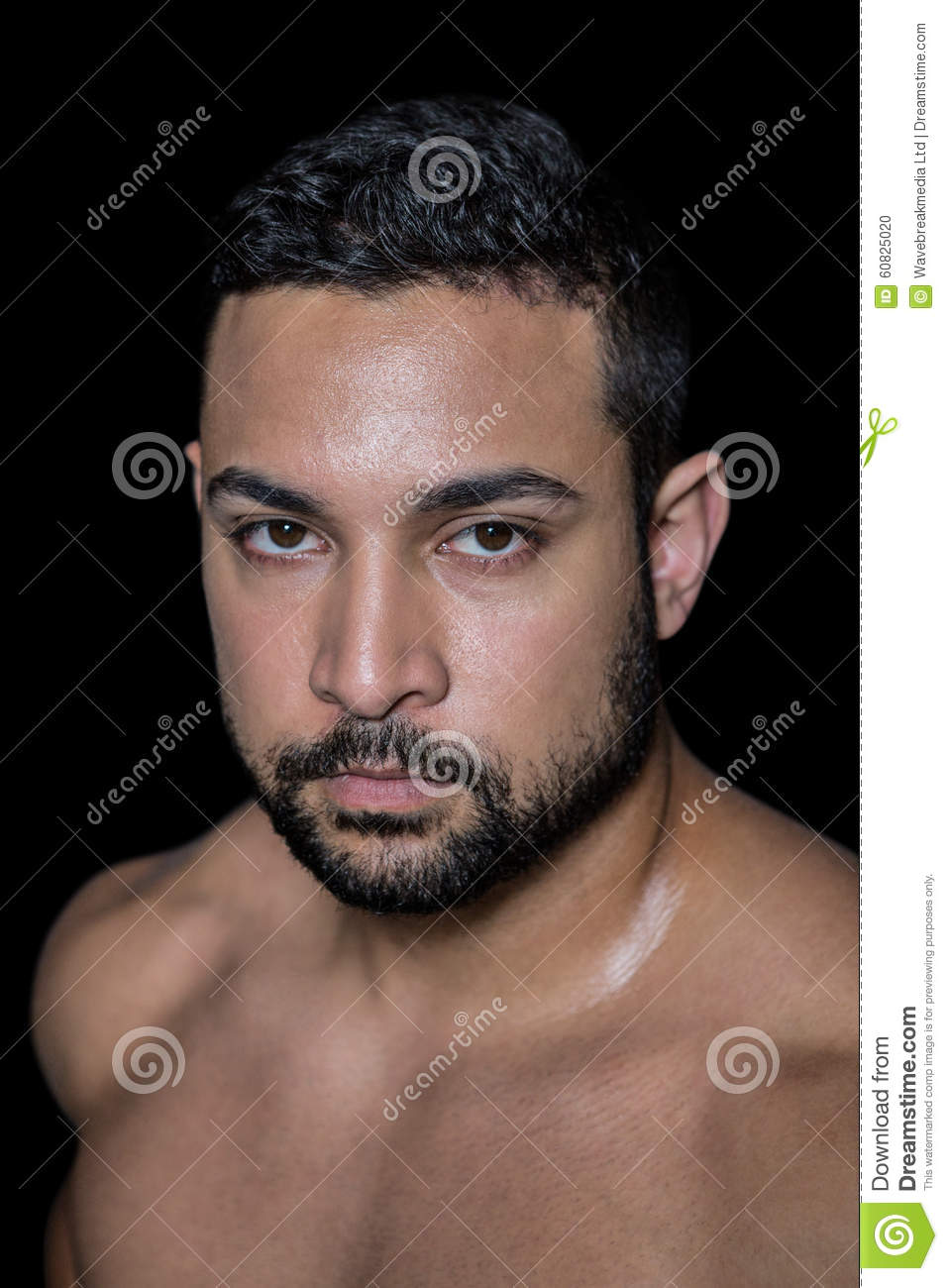 Portrait of a muscular man