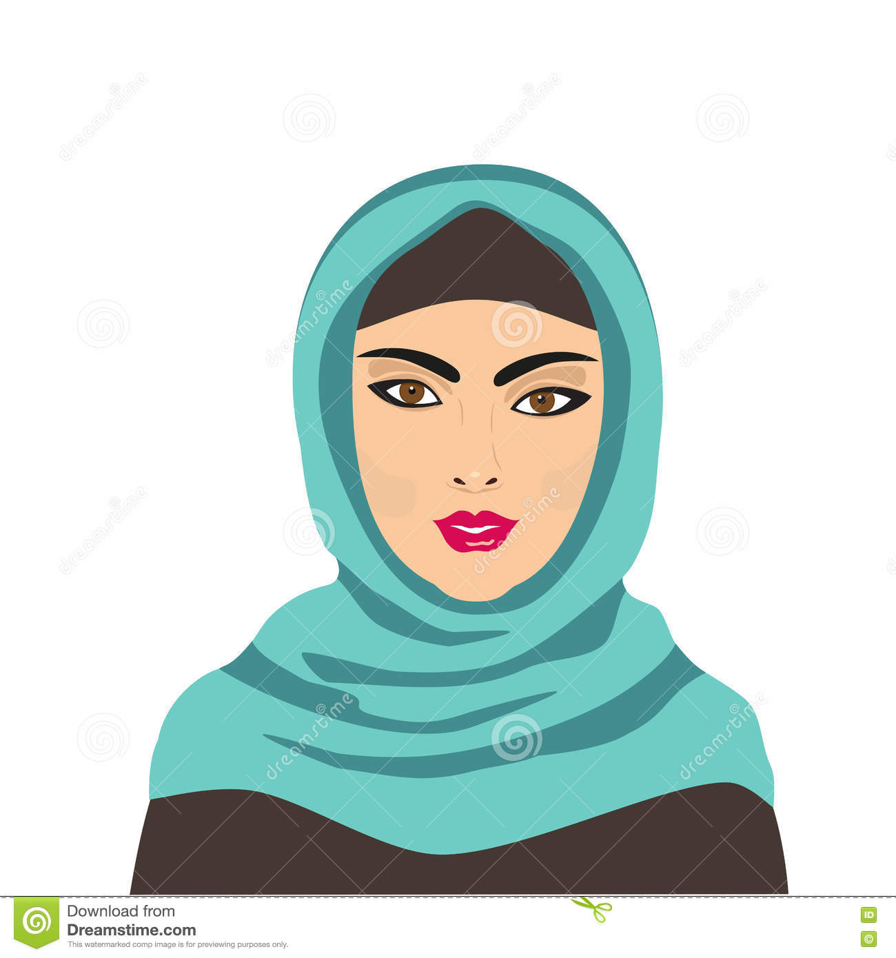 cartoon Muslim hijab