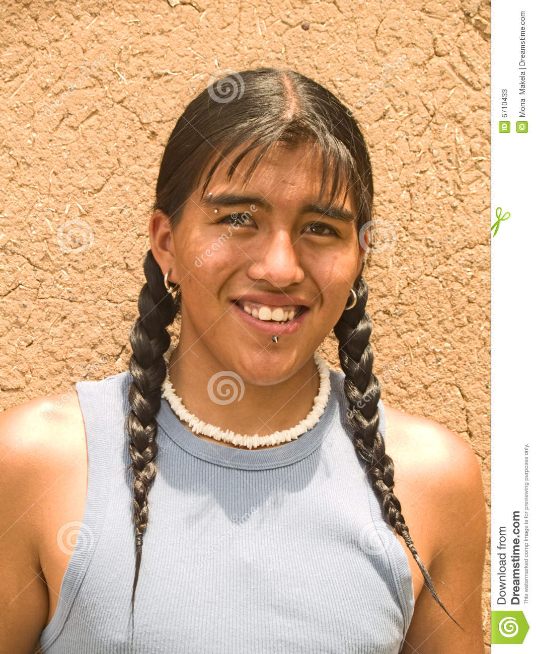 Portrait Of A Native American Teenage Boy Stock Photos