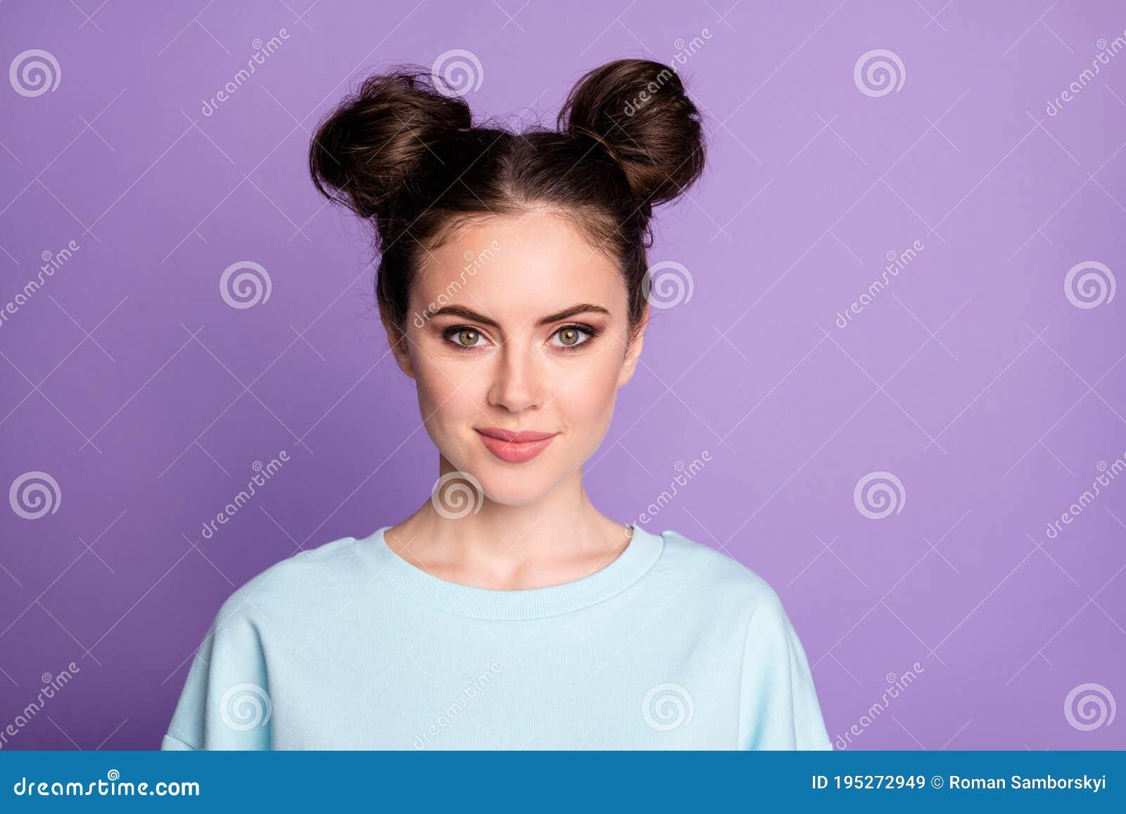 Portrait Of Nice Sweet Girl Freelancer Feel Confident Look