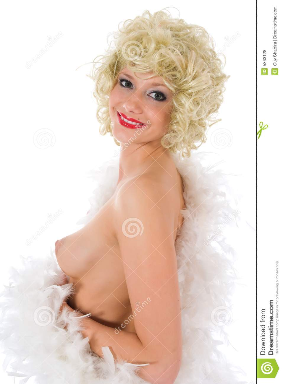 Angel Eyes Nude Pics portrait of the nude blonde-angel with green eyes stock