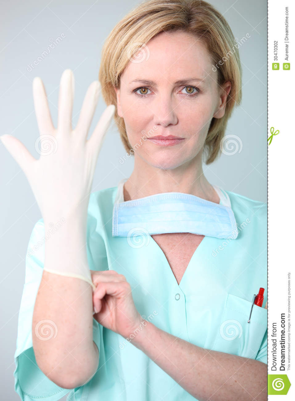 Thankfulness man, latex glove hand rash cure
