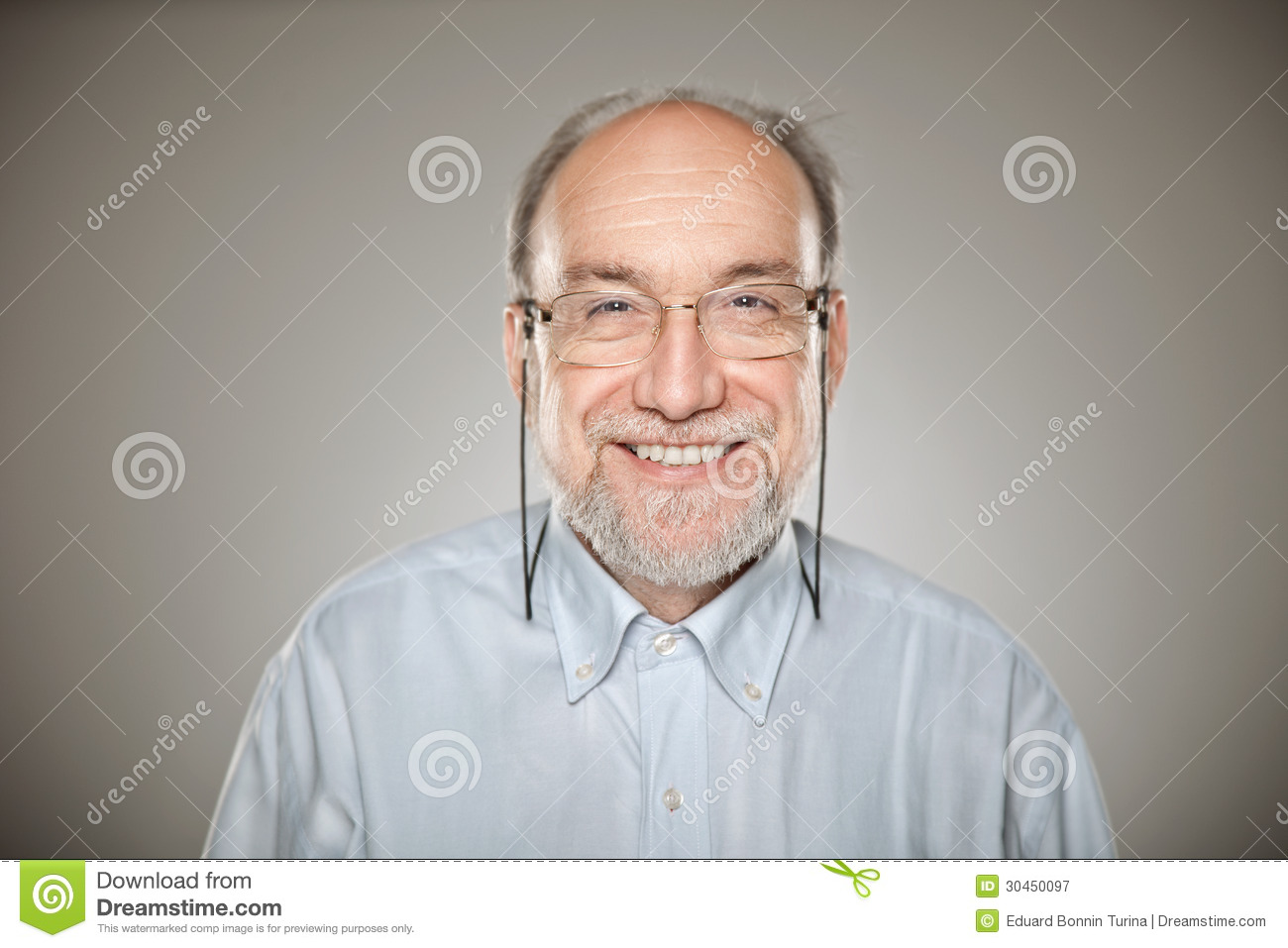 1213526ece8 Portrait Of Old Man Taking Glasses And Smiling Stock Image - Image ...