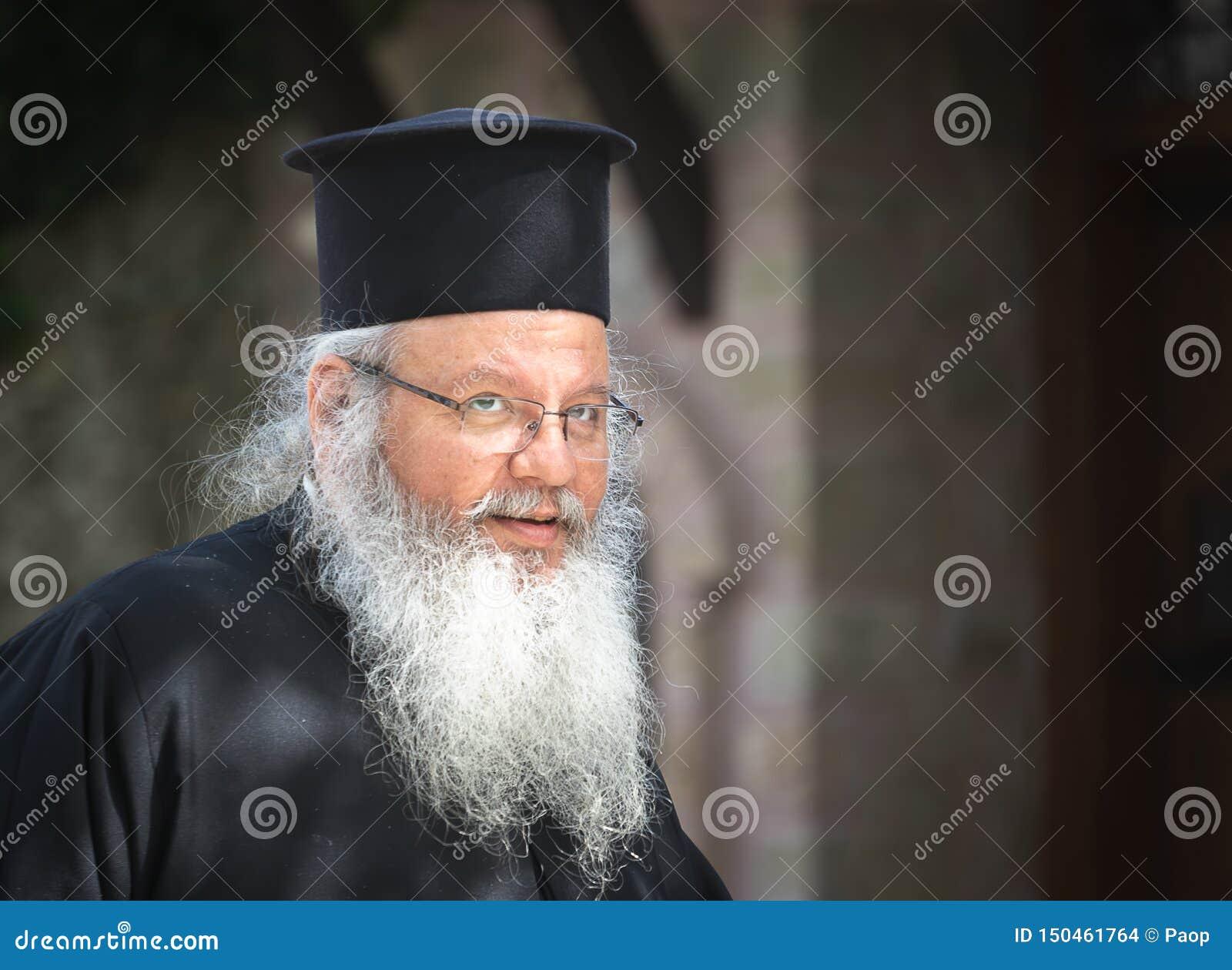 The portrait of orthodox priest
