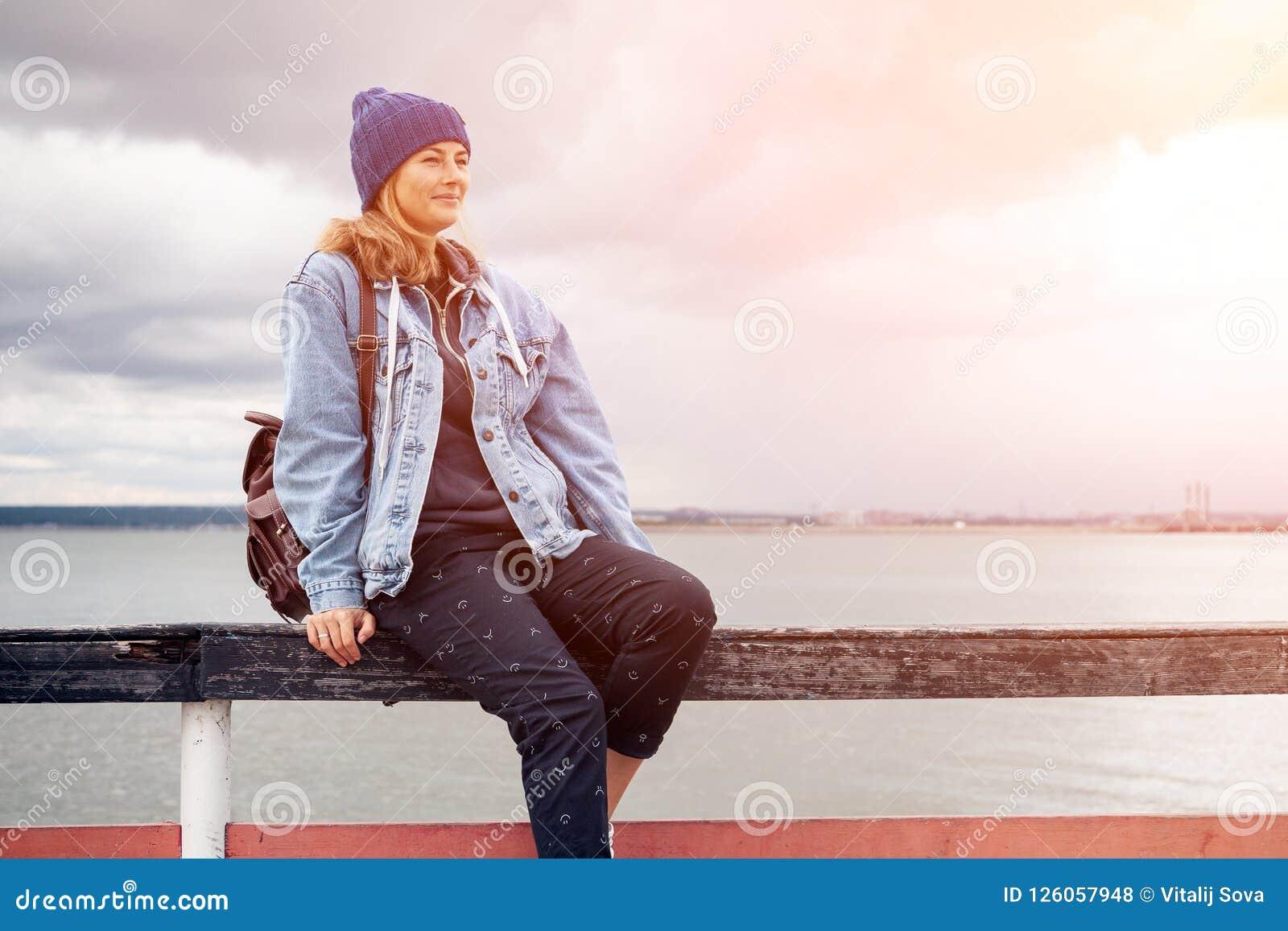 Portrait of outdoor atmospheric lifestyle photo