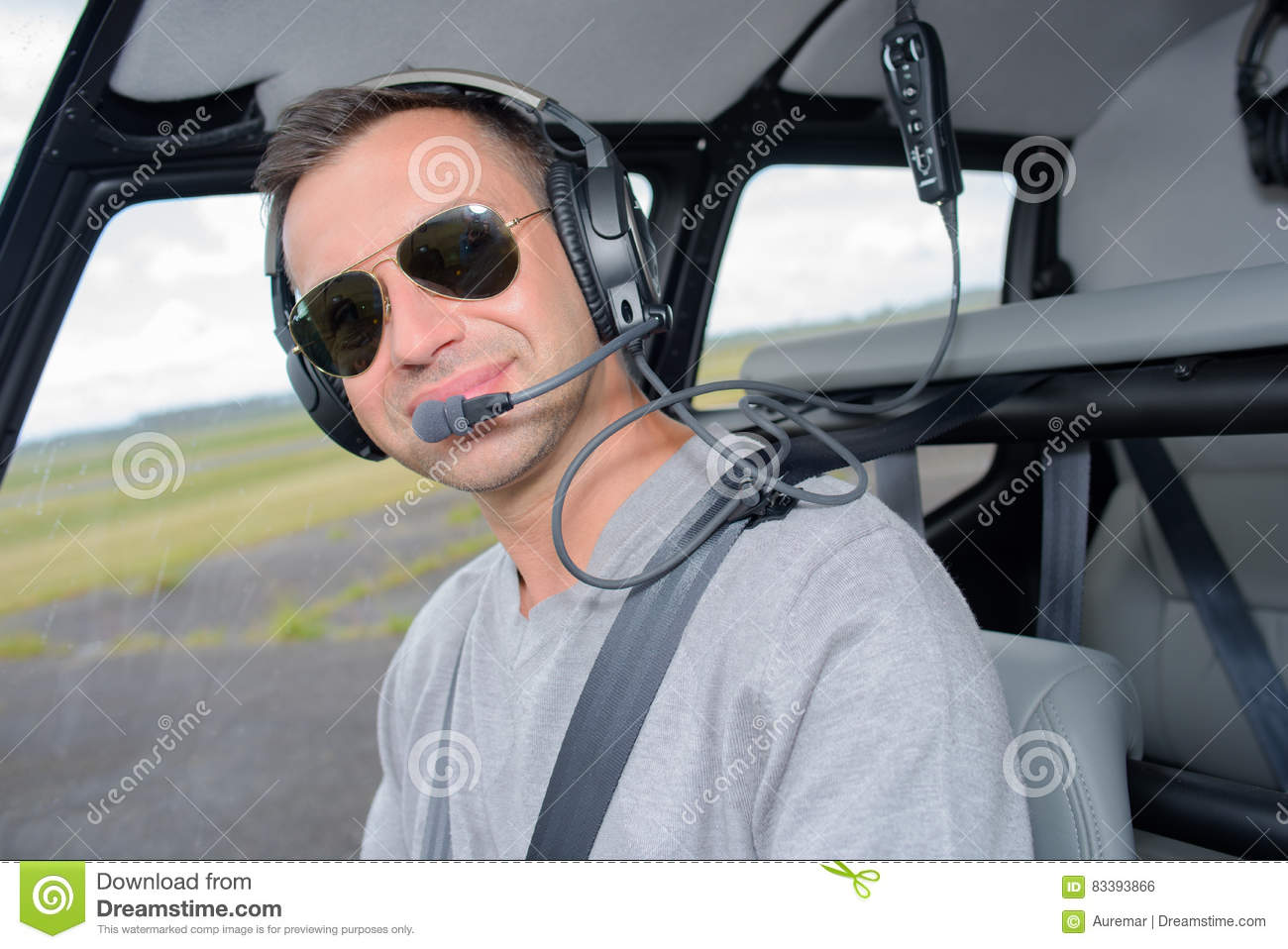 cfb1269be9 Portrait Pilot Wearing Sunglasses Stock Photo - Image of adult ...