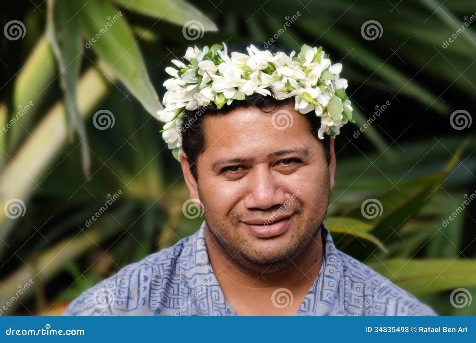 portrait of polynesian pacific island tahitian mature man aituta
