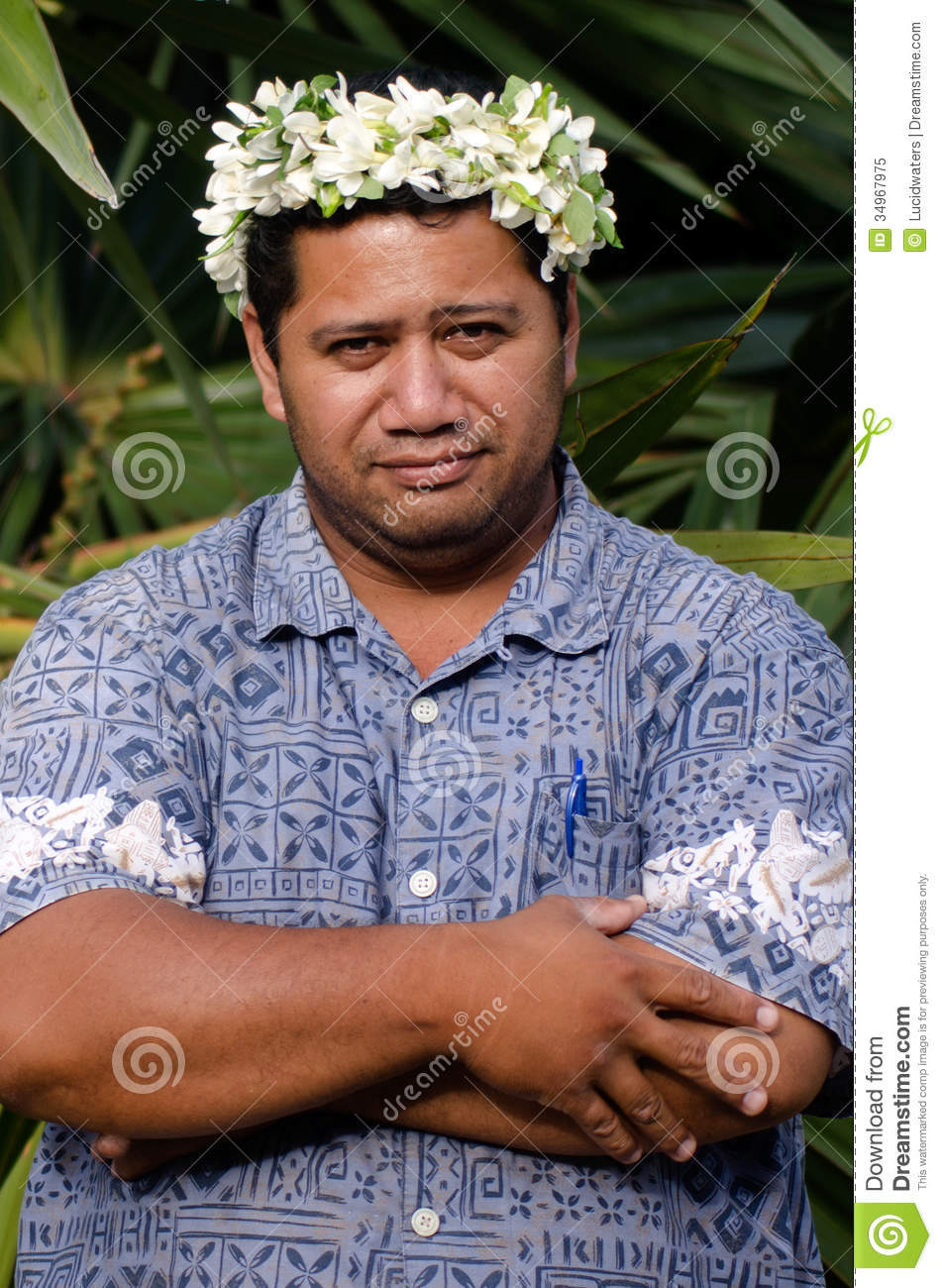 Download Portrait Of Polynesian Pacific Island Tahitian Mature Man Aituta Stock Image - Image of ethnicity, natural: 34967975