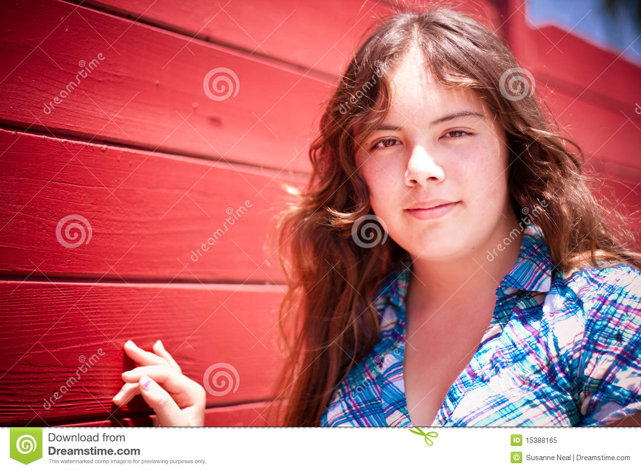 Portrait Of Pretty 14 Year Old Girl Royalty Free Stock