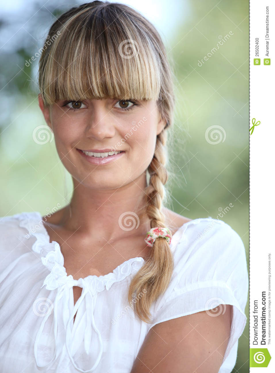 Portrait of a pretty blonde woman stock photo image for Www dreamhome com
