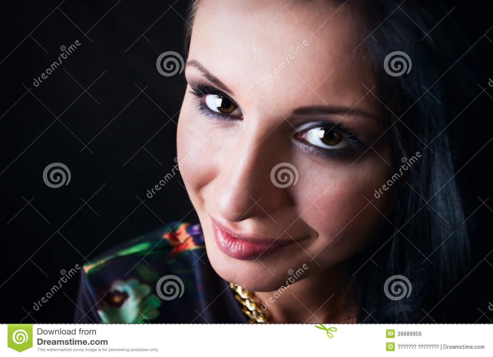 Portrait Of Pretty Brunette Swag Girl Fashion Stock Photo Image