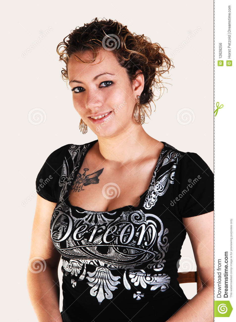 Portrait Of A Pretty Girl. Stock Photo. Image Of Caucasian