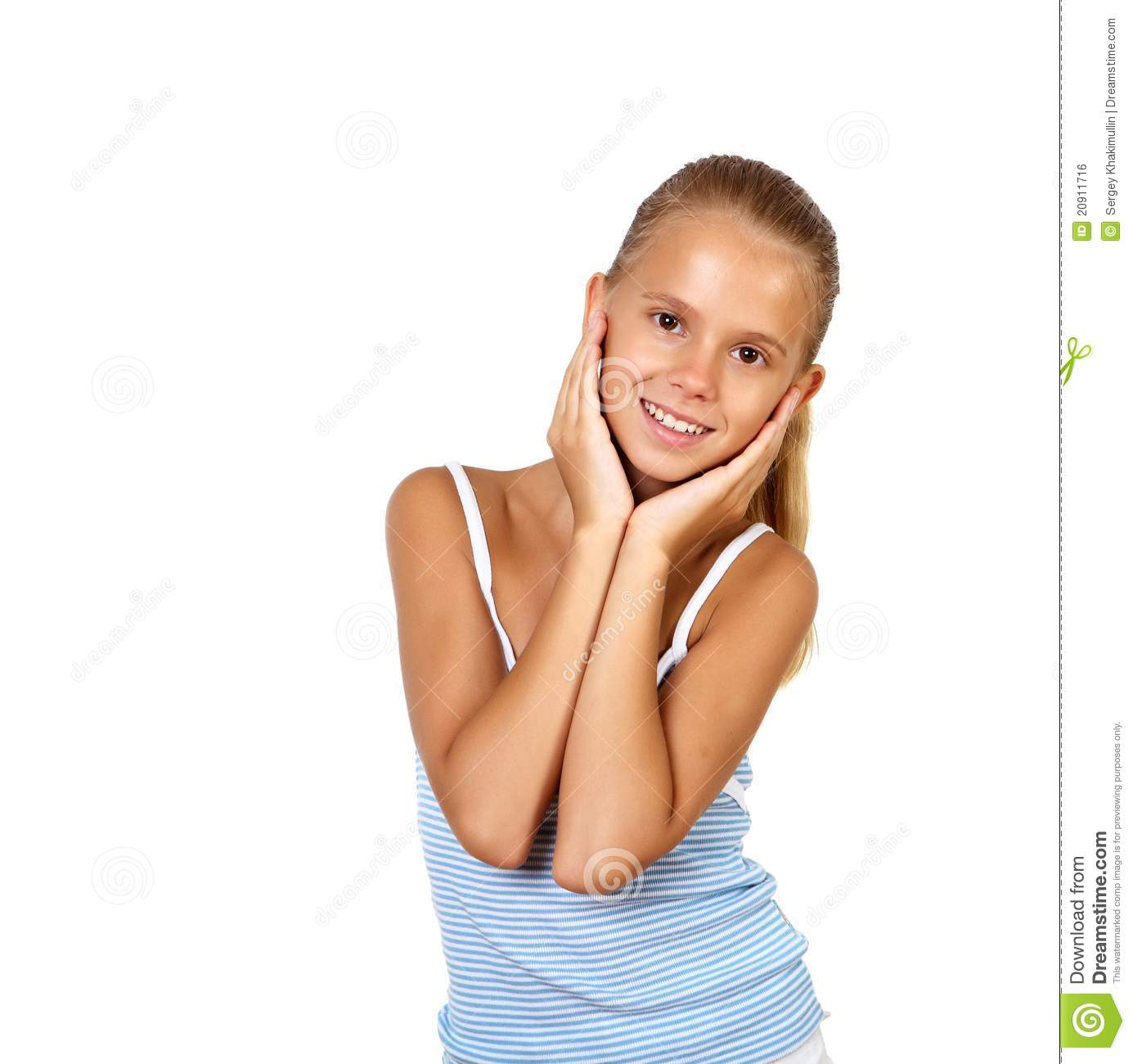 Portrait Of Pretty Teenage Girl Royalty Free Stock Image