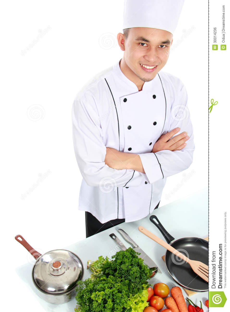Chef with fresh ingredient royalty free stock image for Fresh chef kitchen