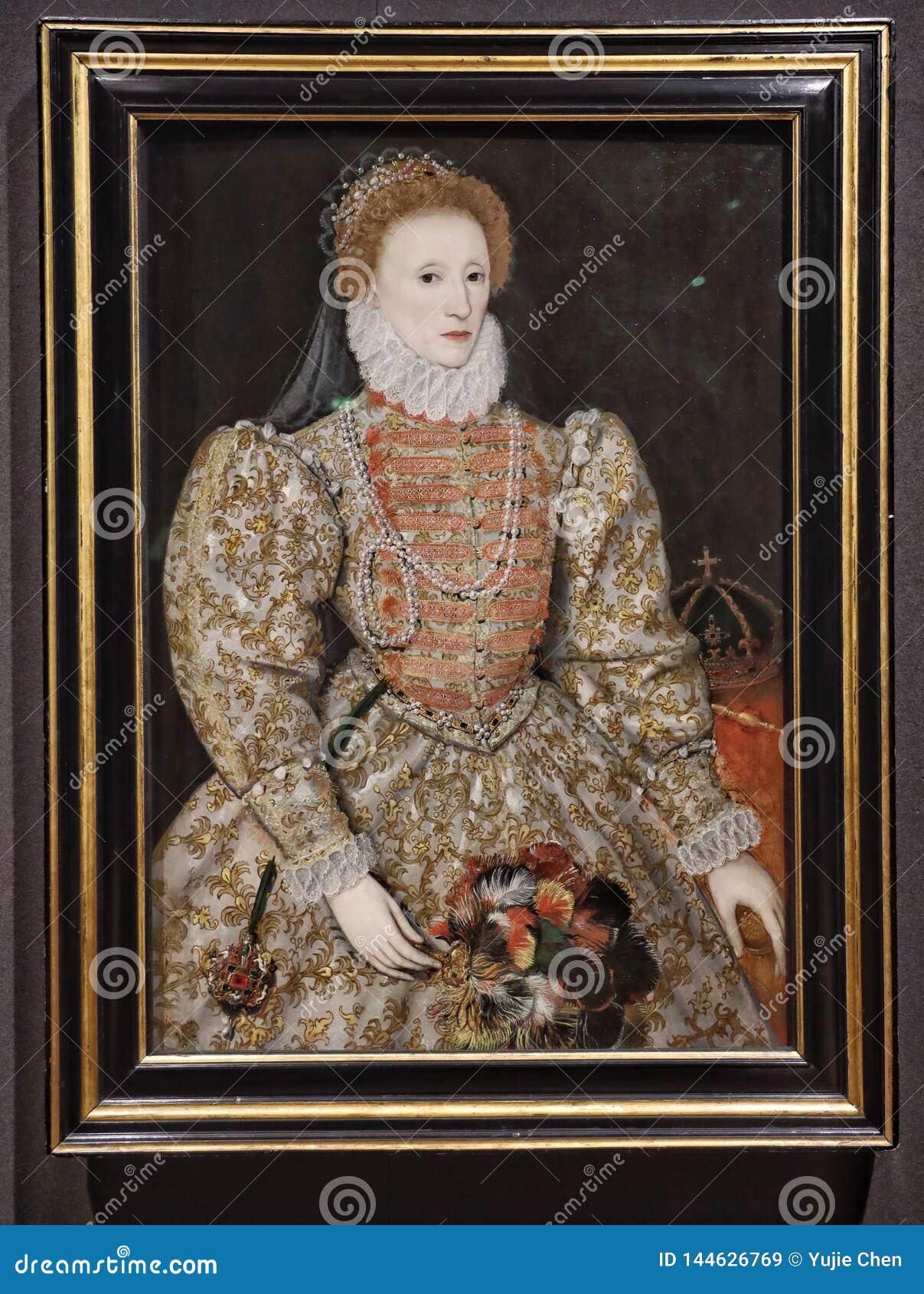 Portrait Of Queen Elizabeth I By An Unkown English Artist