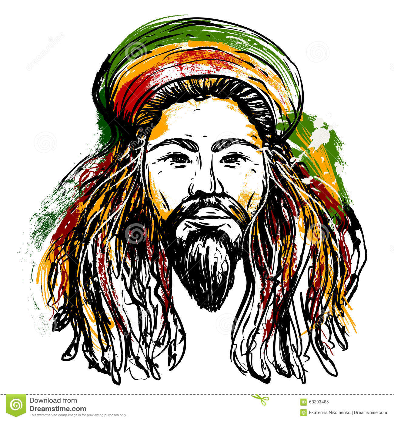 Tato Art Styles: Rastaman Cartoons, Illustrations & Vector Stock Images