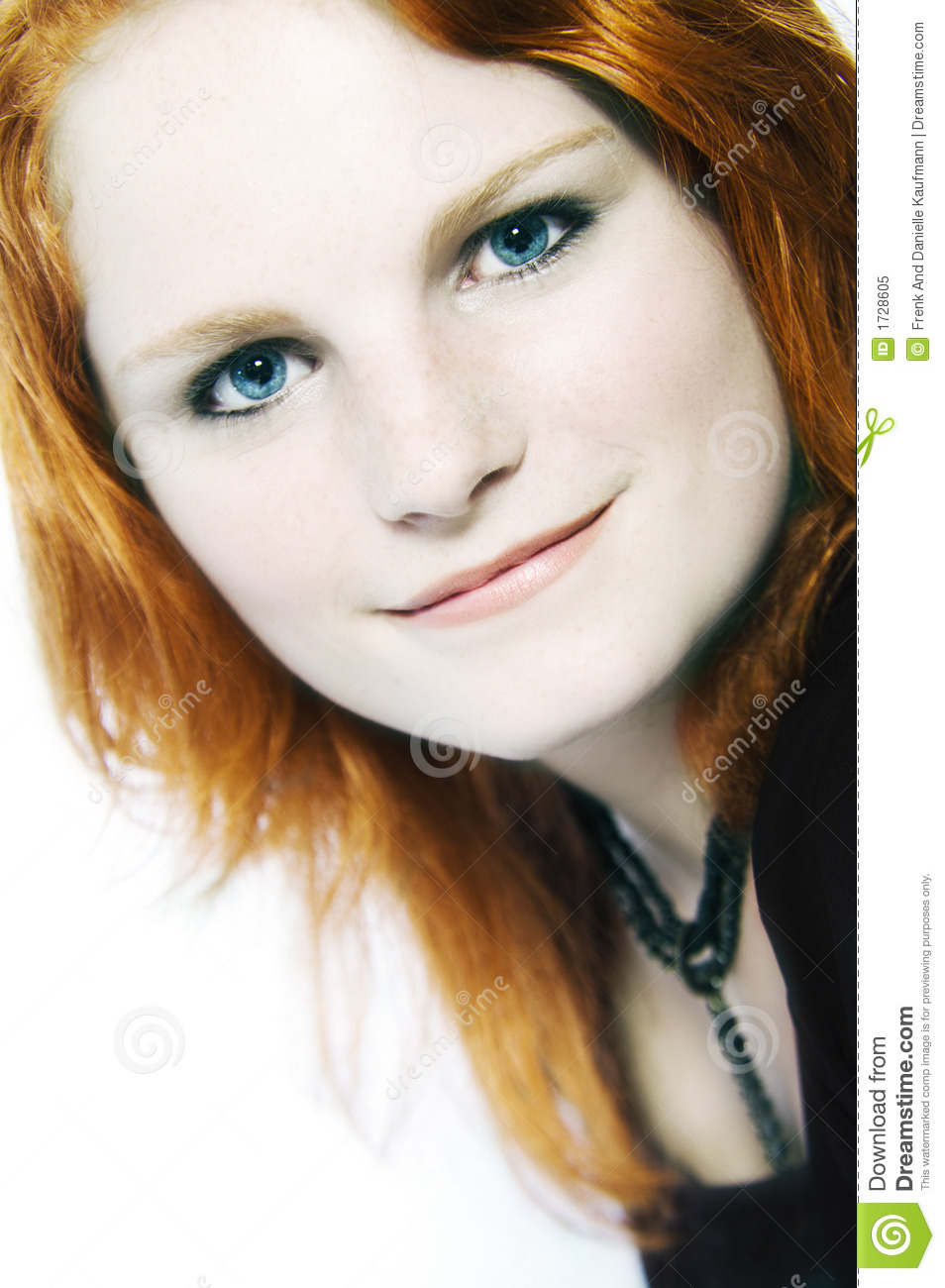 Portrait of a red haired model