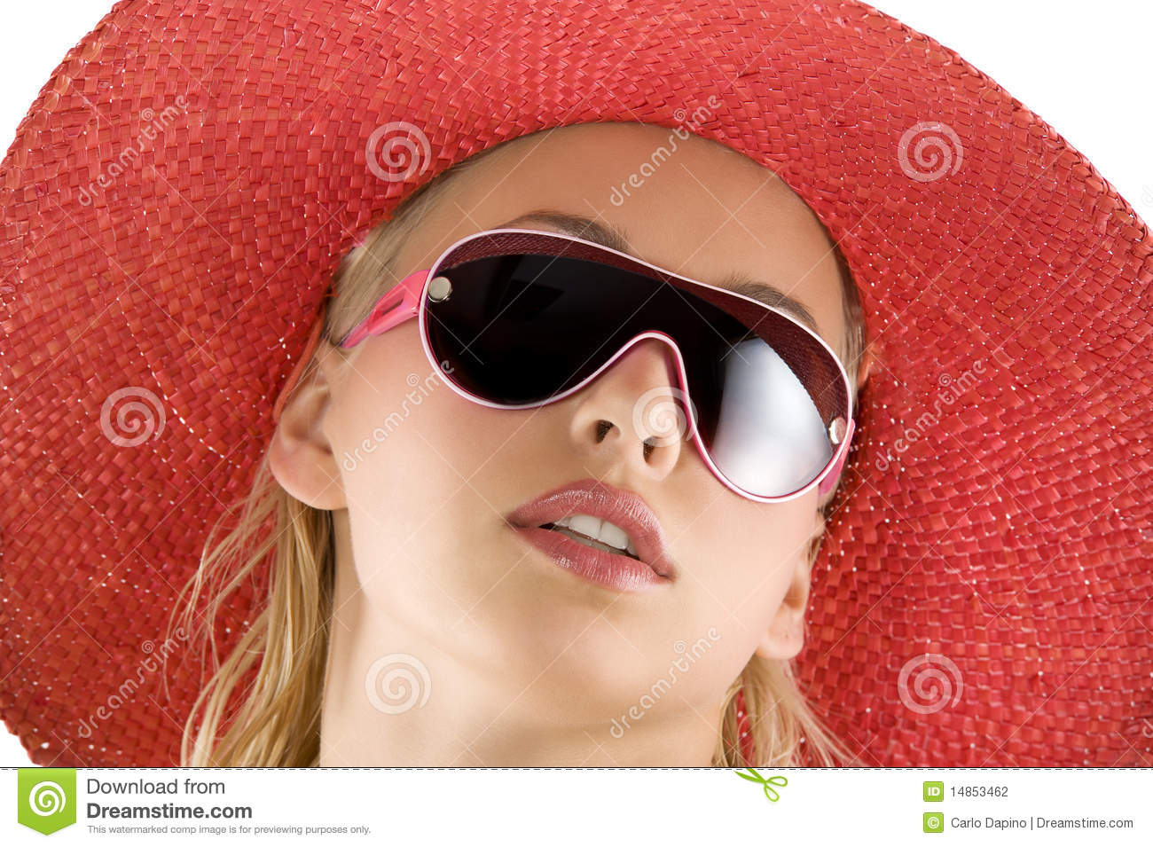 Download Portrait With Red Hat And Sunglasses Stock Photo - Image of cute, hairstyle: 14853462