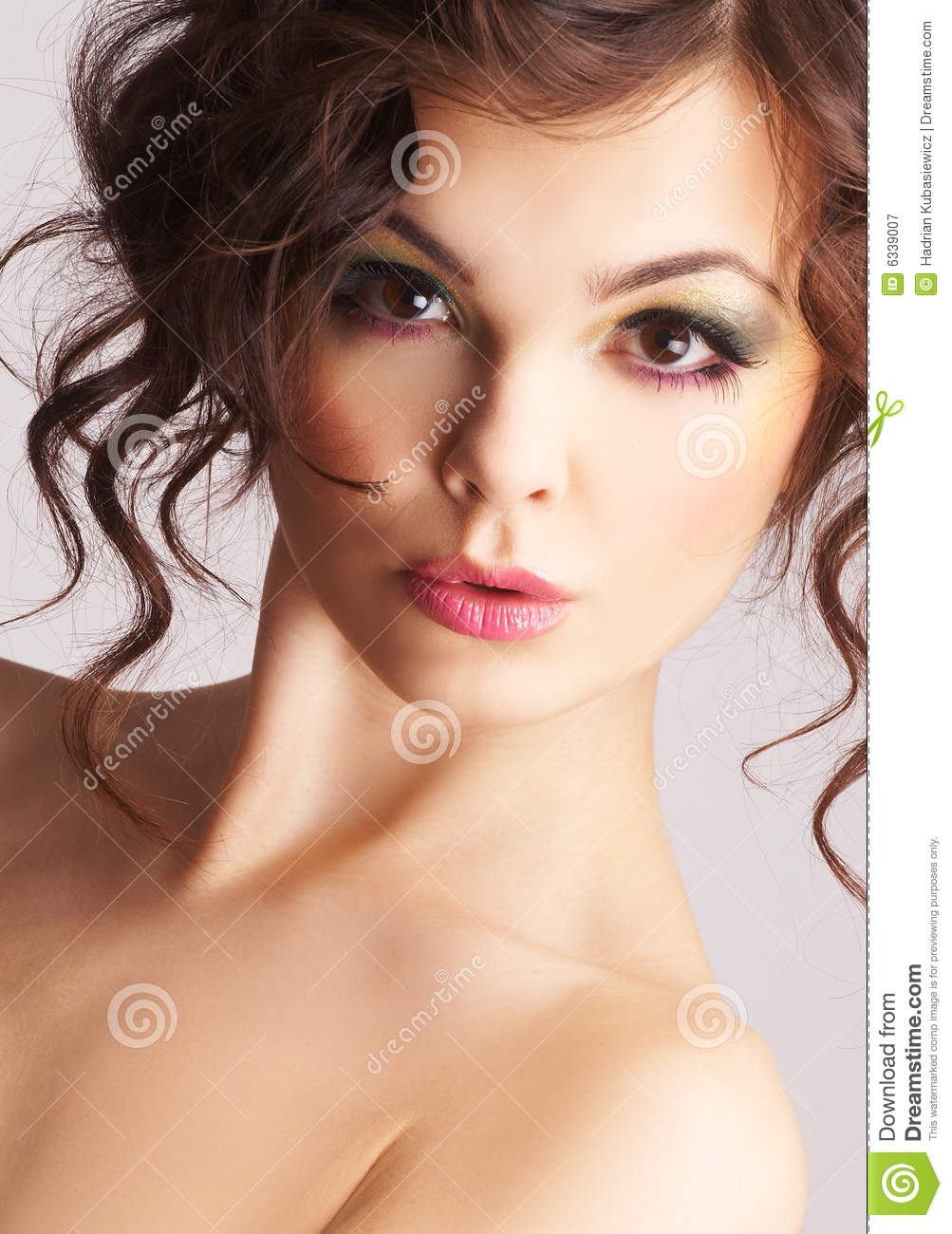 Portrait Of Sexy Woman With Beautiful Make Up Royalty Free