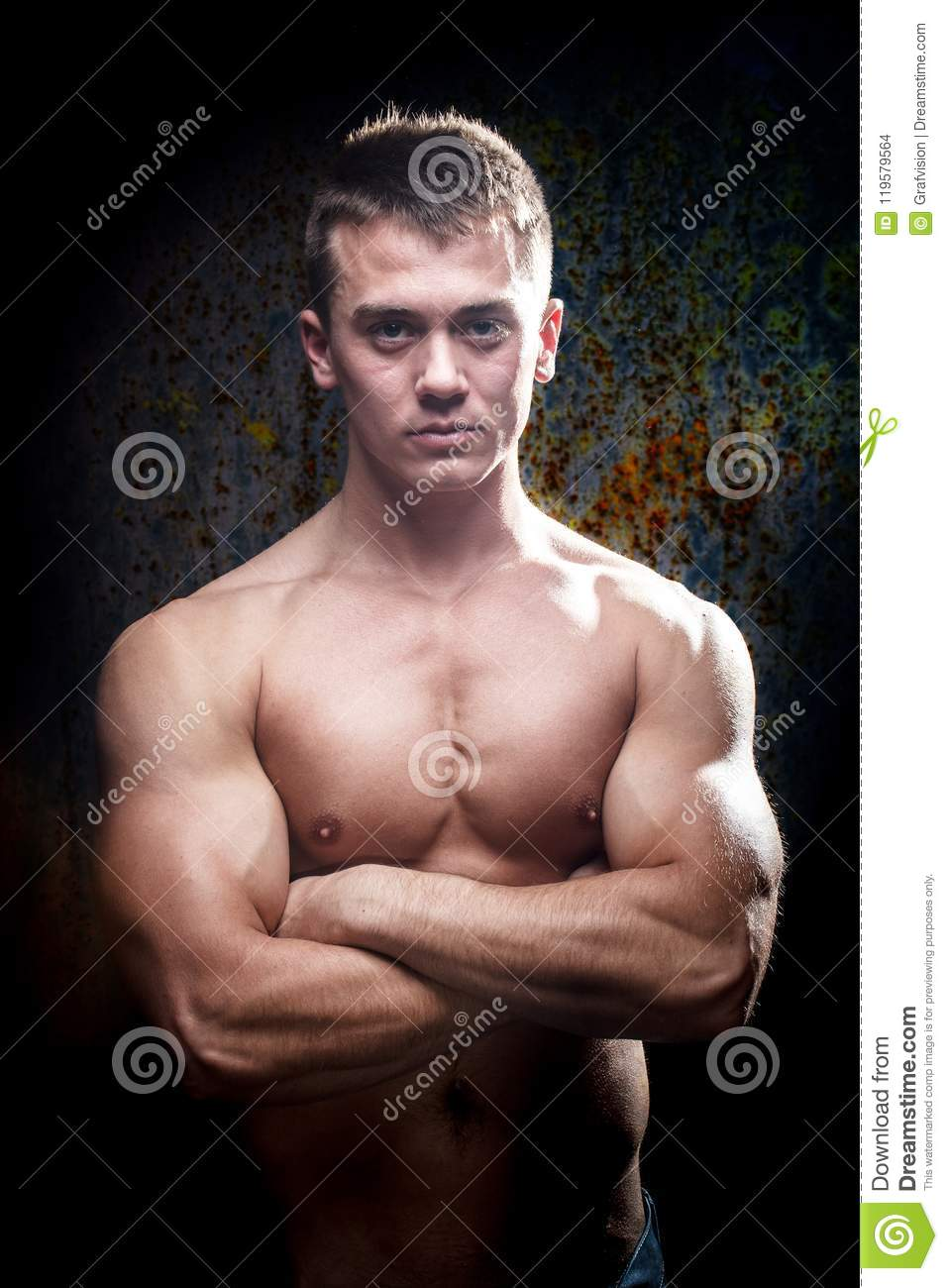 Muscular Young Athletic Sexy Man On Stock Photo (Edit Now