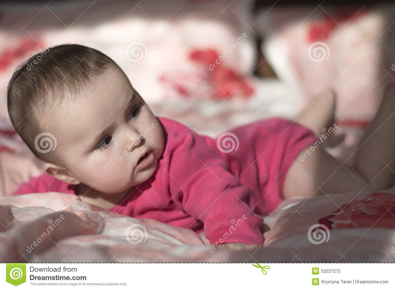 Portrait Of Small Baby Girl Stock Photo Image 52227272