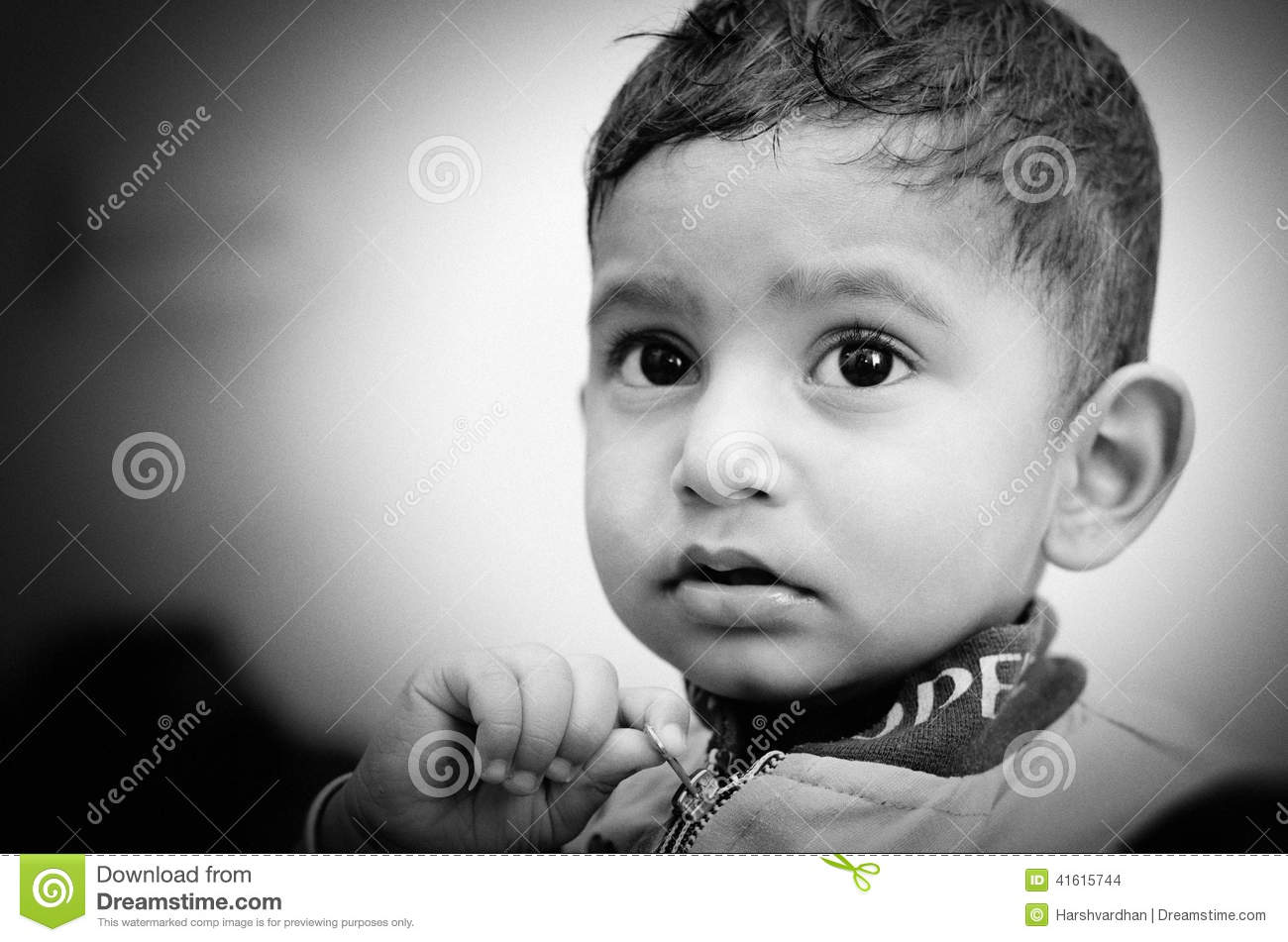 Portrait of small indian child