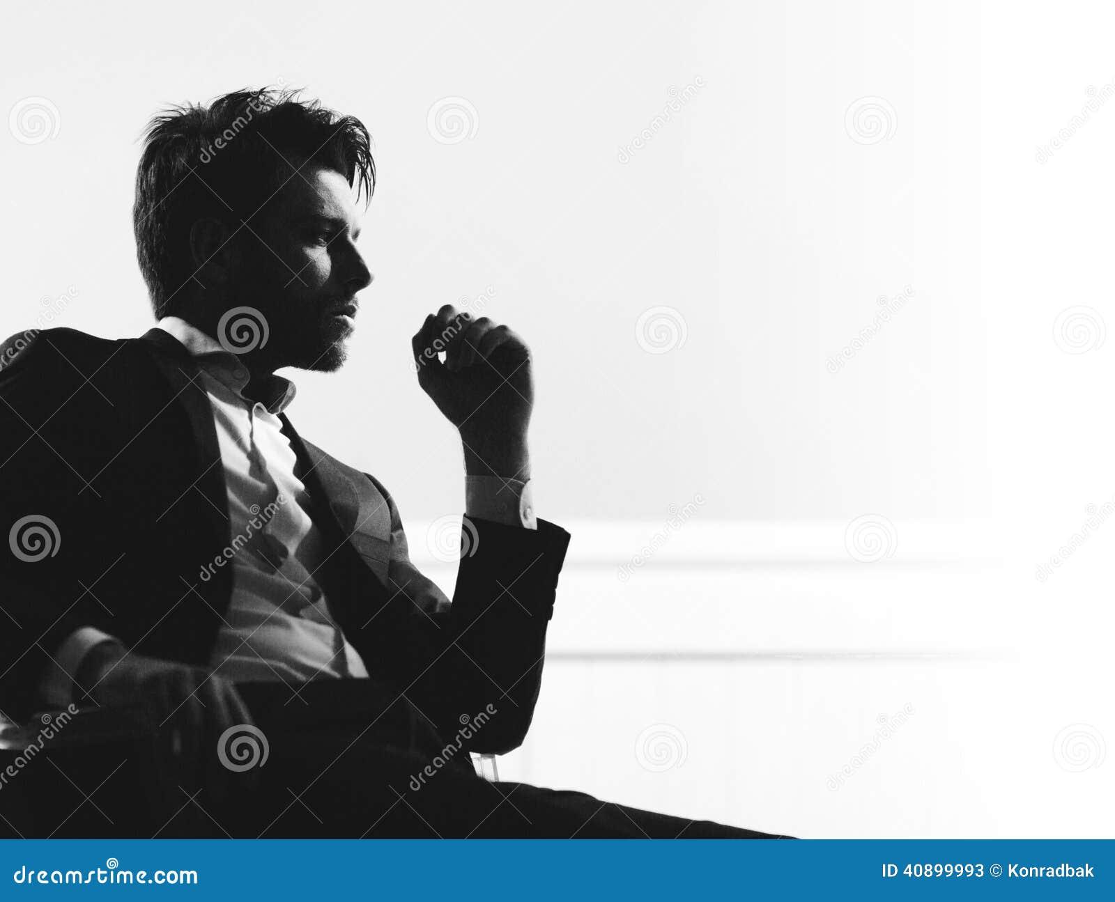 Portrait of the smart handsome man