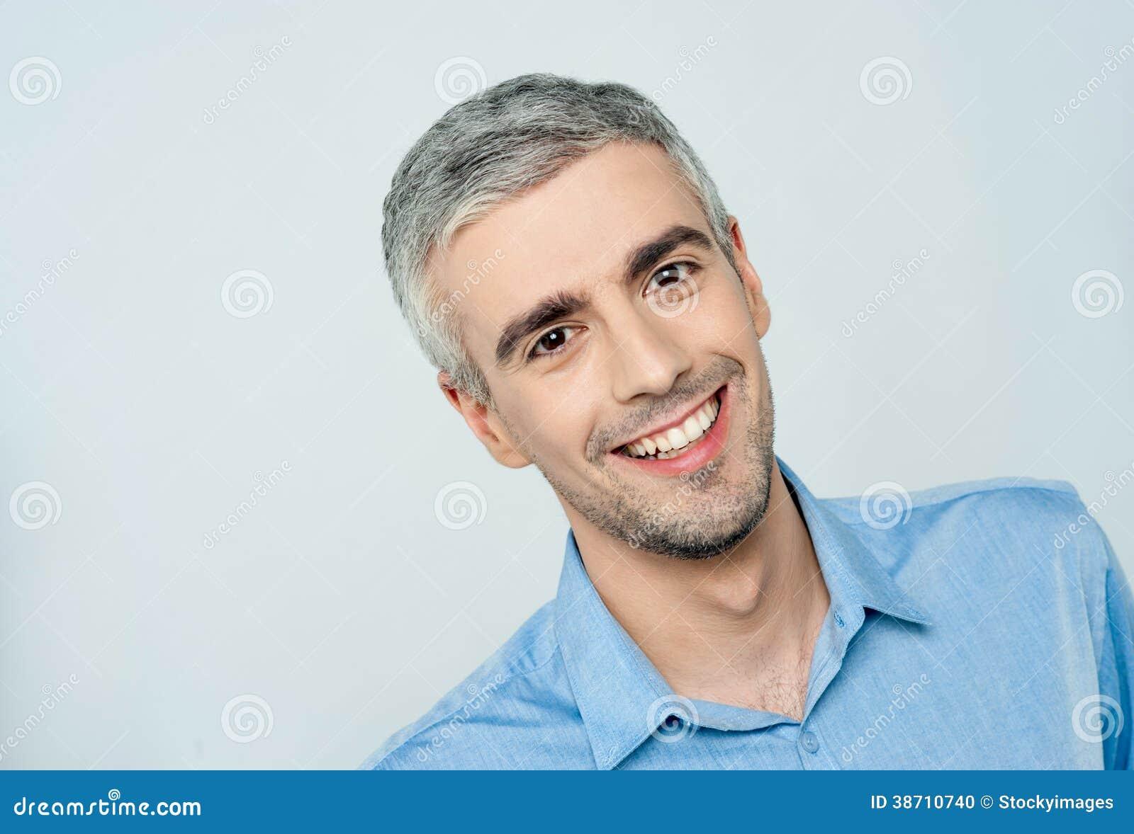 Portrait of a smart male model