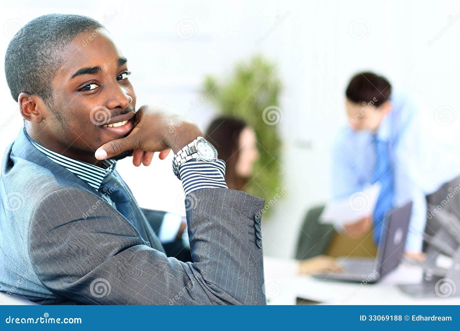 Black Executives man with executives