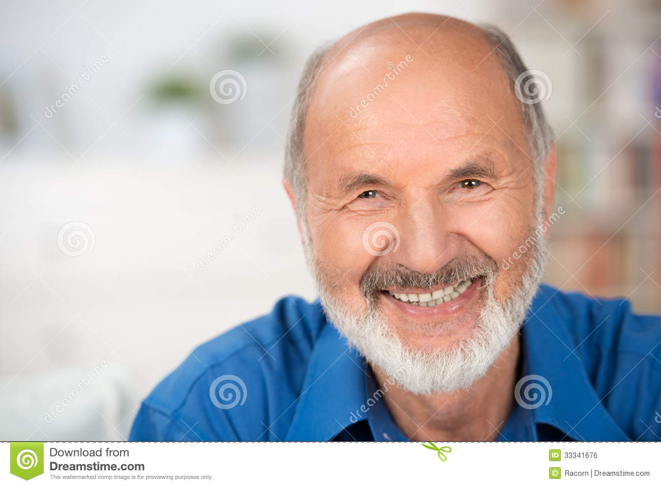 Portrait of a smiling attractive senior man