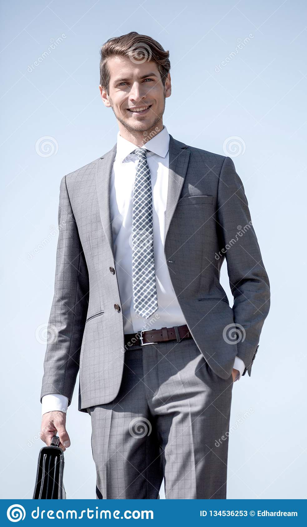 Portrait of a smiling business man. Business people stock photos