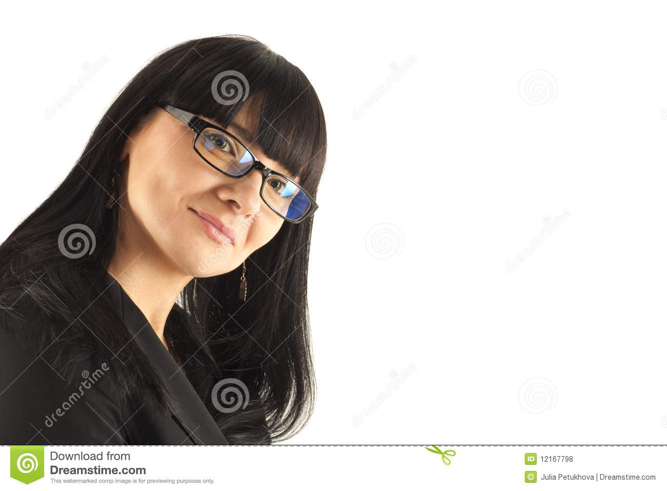 Portrait of the smiling business woman