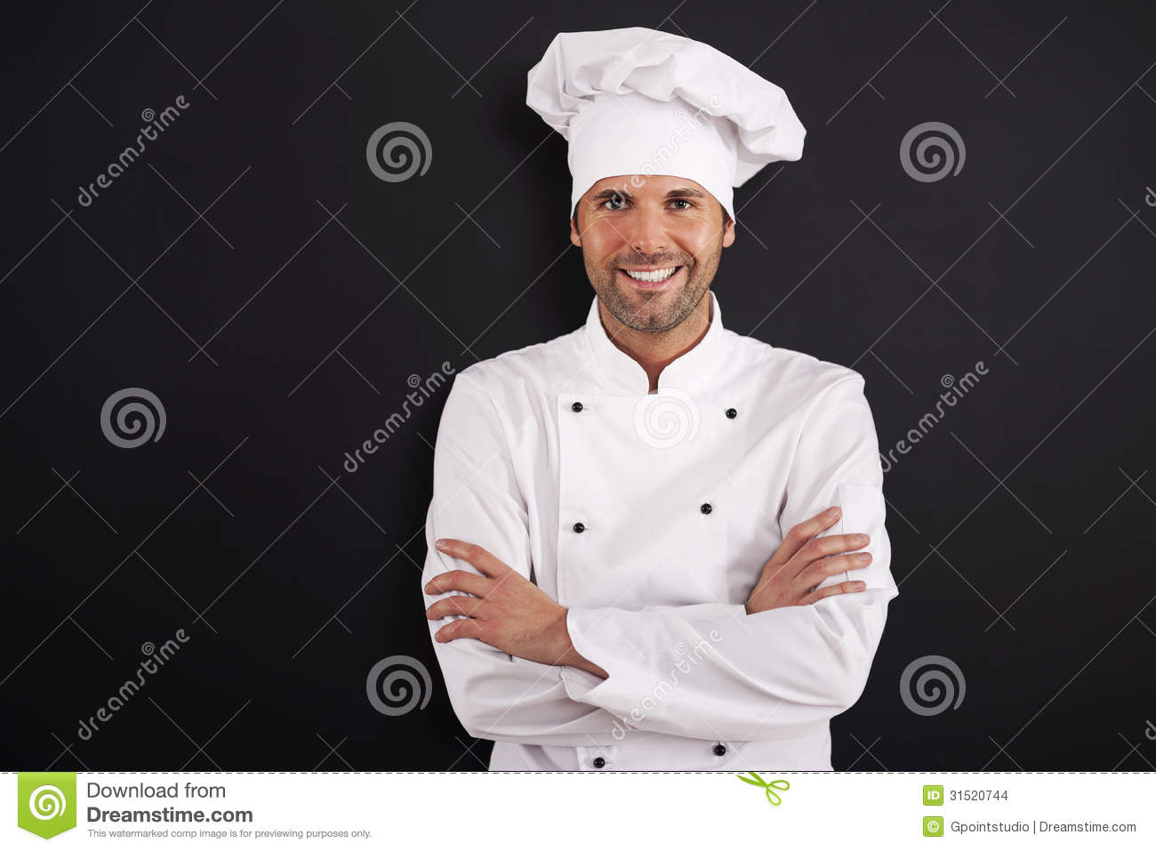 Portrait of smiling chef