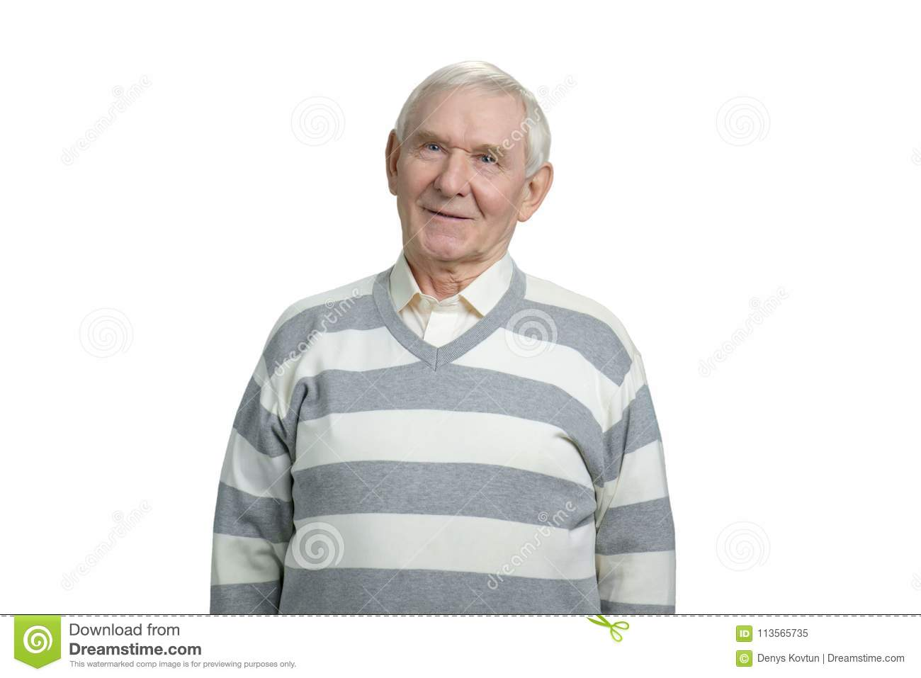 7a533c54f Portrait Of A Smiling Grandfather. Stock Image - Image of cheerful ...