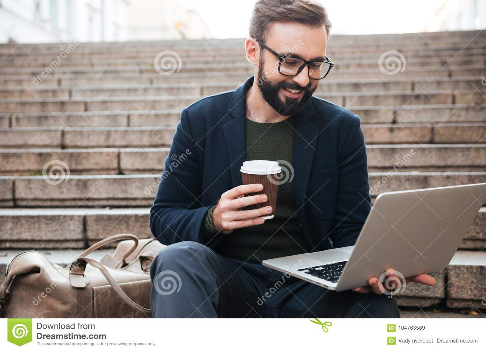 Portrait of a smiling handsome man in eyeglasses