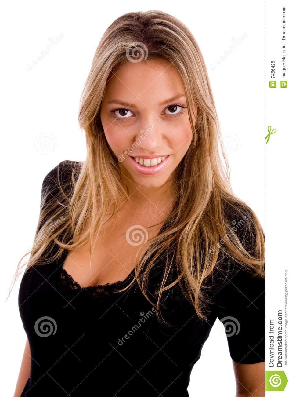 Portrait of smiling woman looking at camera