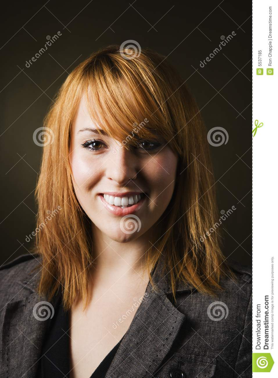 Portrait smiling woman