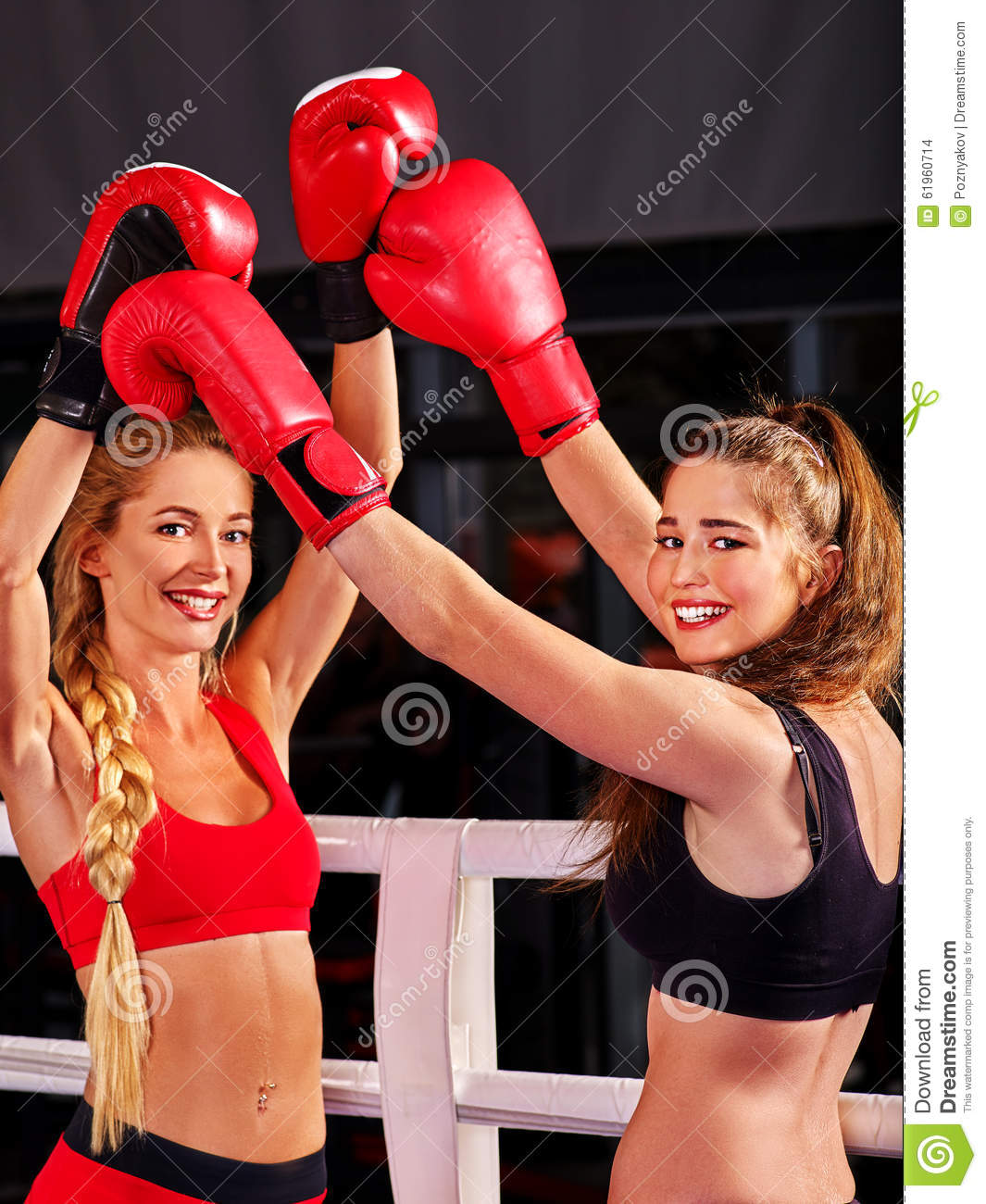 Portrait Of Sport Girl Boxing Stock Photo