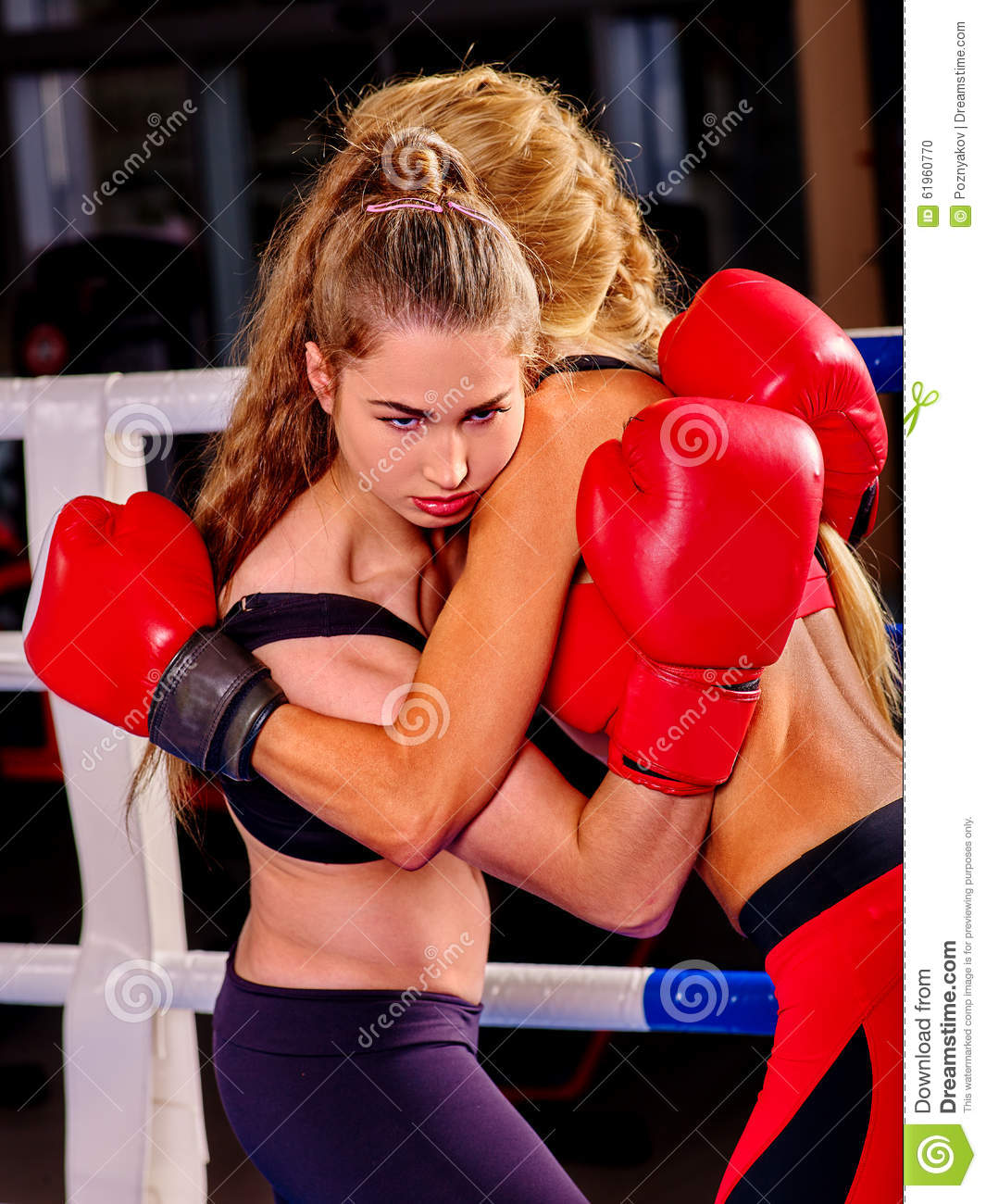 Sexy nude women boxing something