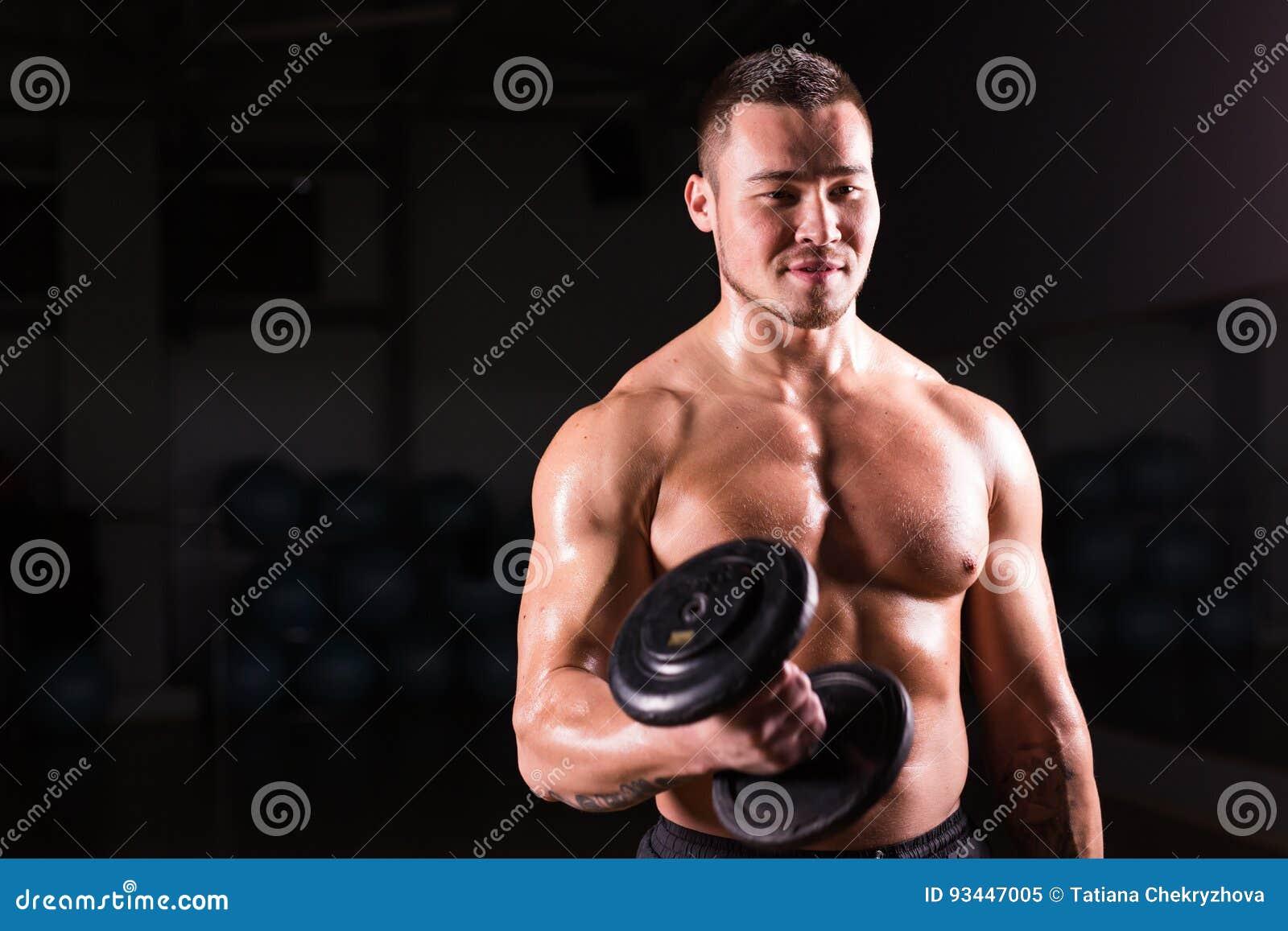 Naked posing Fitness model