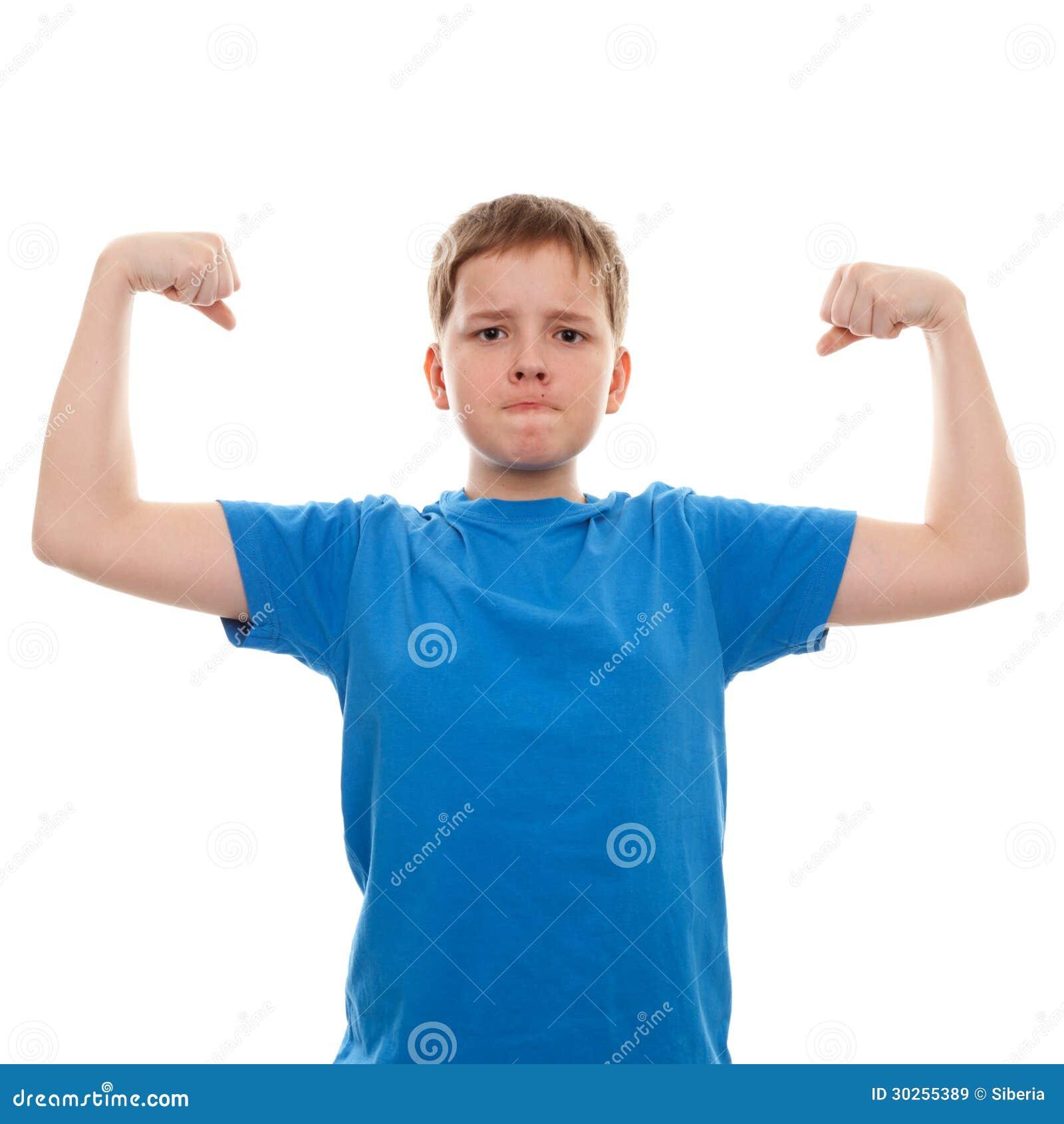 Strong teen boys