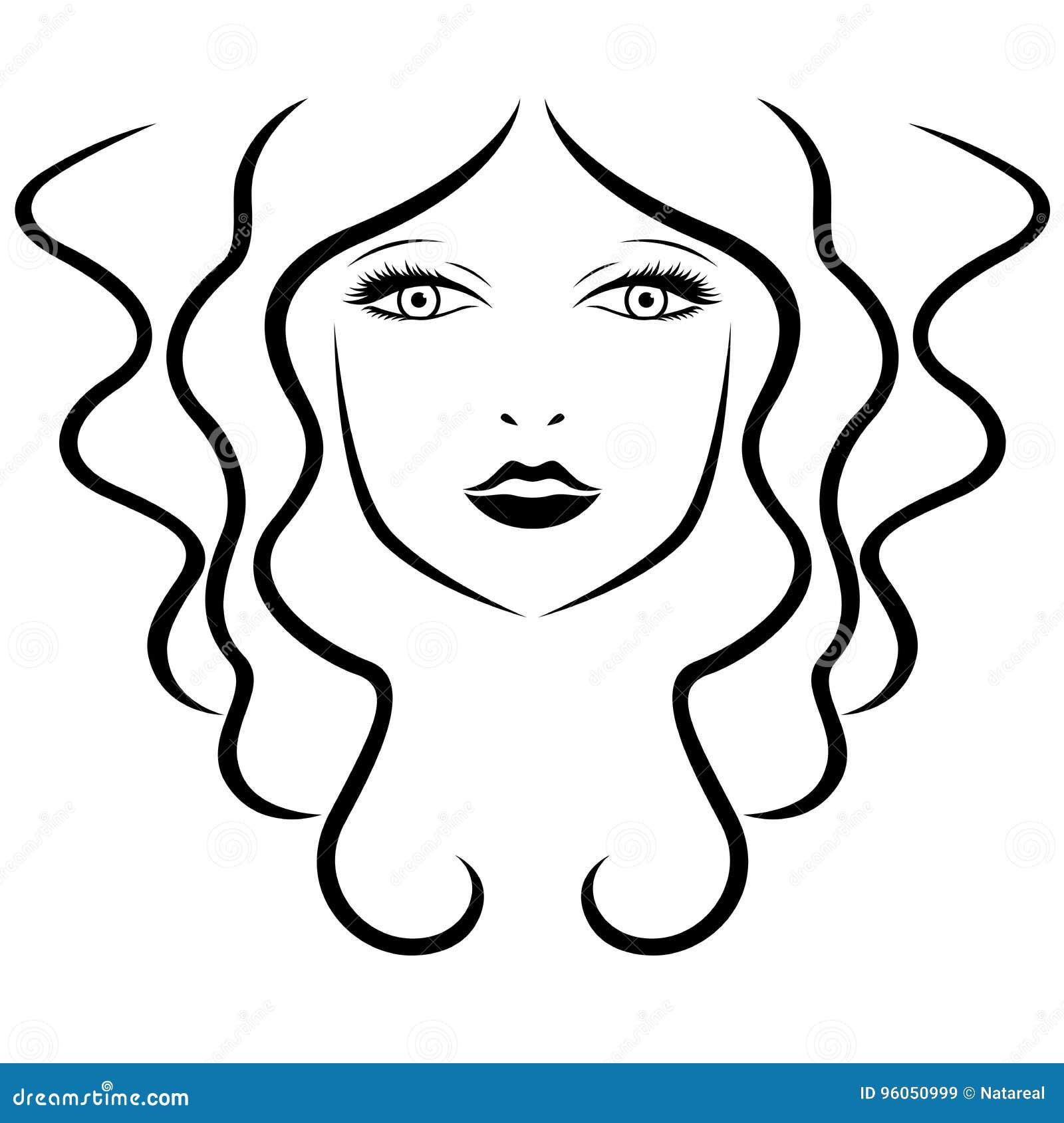 Portrait stylisé de belles femmes