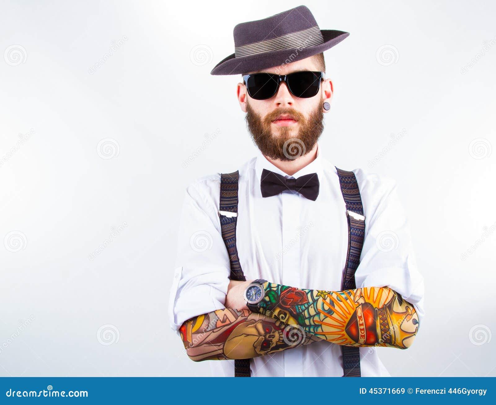 Portrait Of A Stylish Hipster Stock Photo Image 45371669