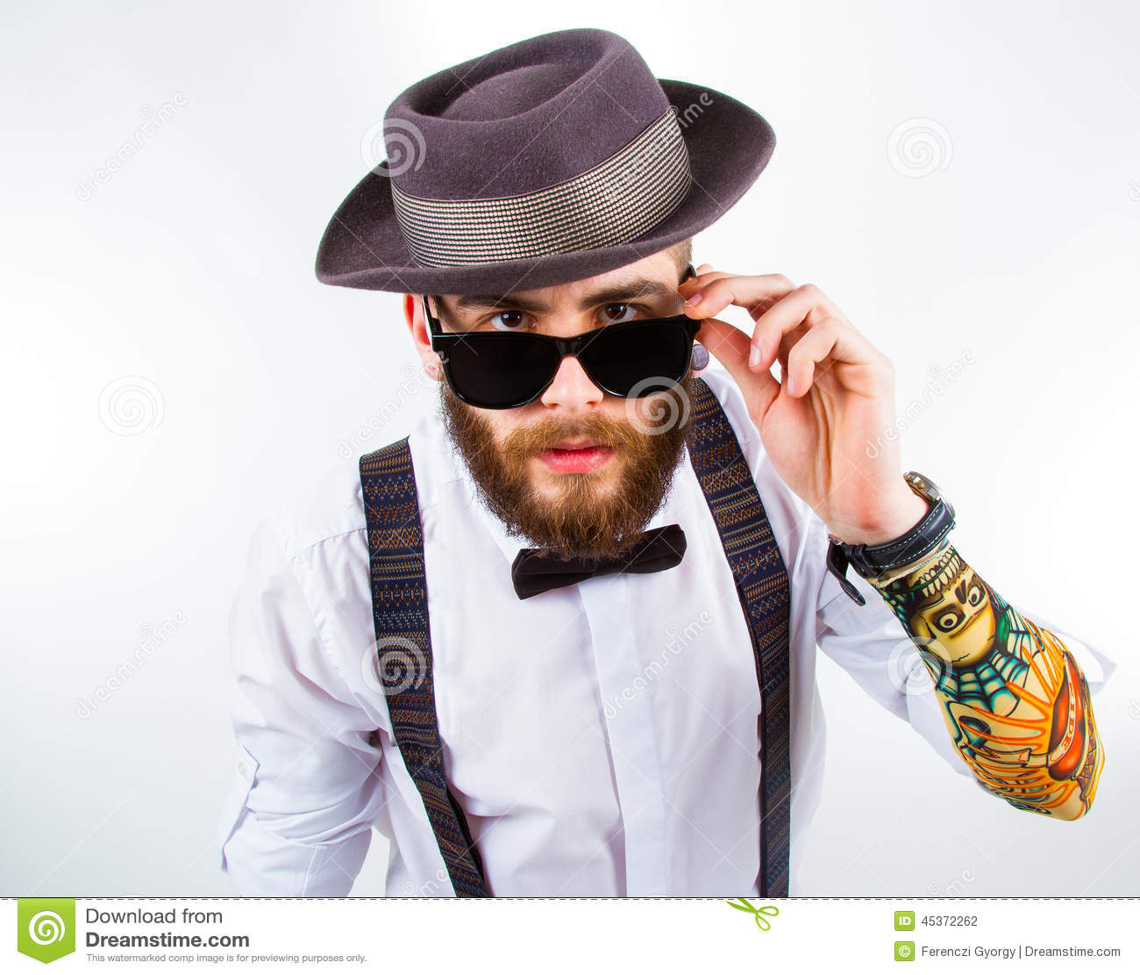 Portrait Of A Stylish Hipster Stock Photo - Image: 45372262