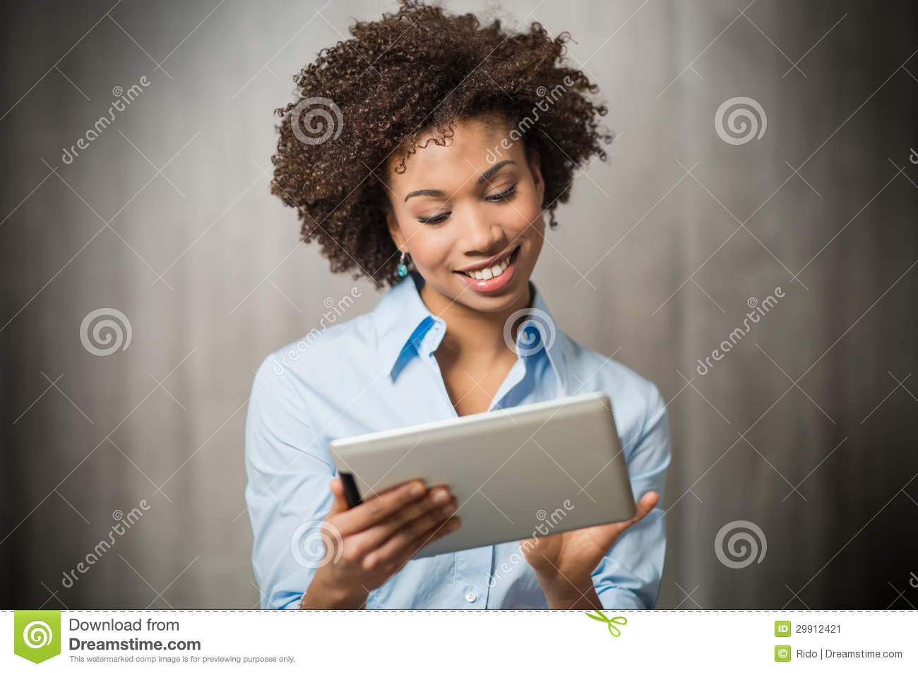 Download Businesswoman Using Digital Tablet Stock Image - Image of employee, communication: 29912421