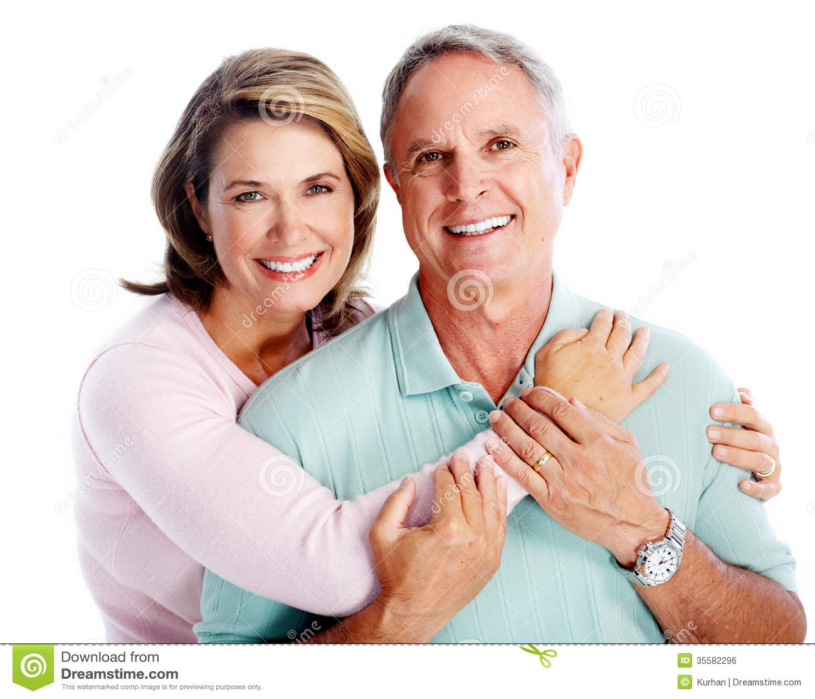 Portrait supérieur de couples.