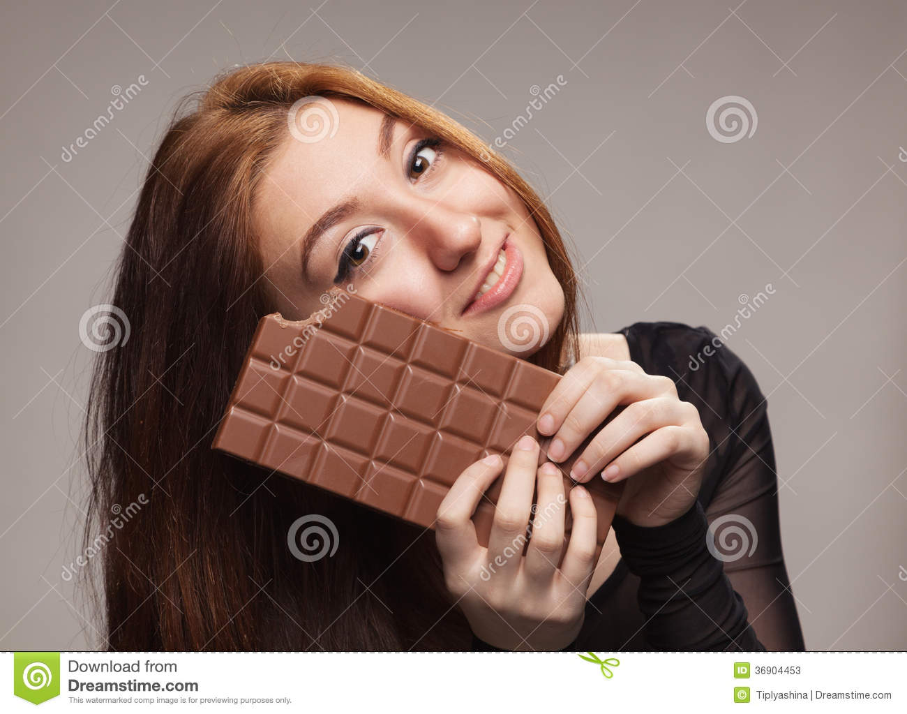 Happy Girl Big Chocolate Bar Stock Photos, Images, & Pictures - 81 ...