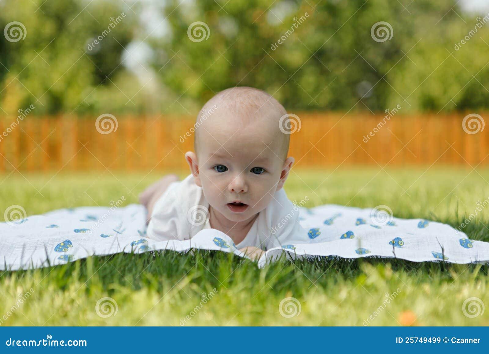 Portrait of sweet little baby boy
