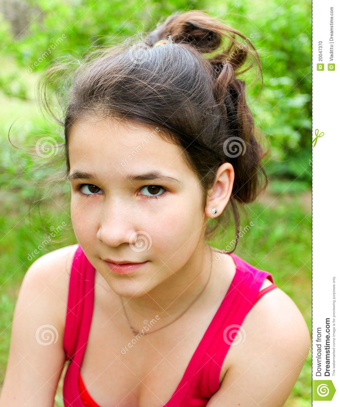 Portrait Of Tired Young Girl Stock Photo - Image: 20047370: https://www.dreamstime.com/stock-photo-portrait-tired-young-girl-image20047370